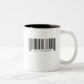 Policemen Barcode Two-Tone Coffee Mug