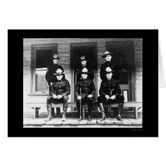 Policemen from Dawson Yukon Territory 1906 Card