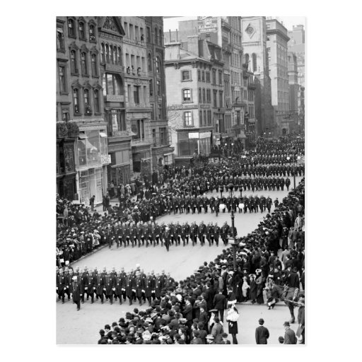 Policemen's Parade on 5th Ave, NYC: 1900 Post Cards