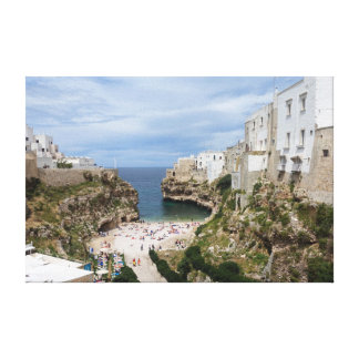Polignano a Mare city beach in Puglia canvas print