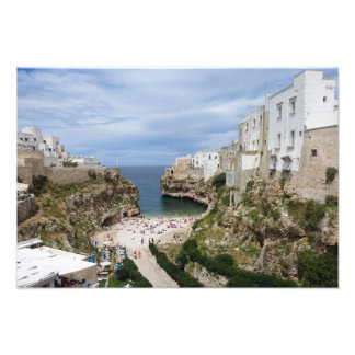Polignano a Mare city beach in Puglia print