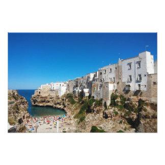 Polignano Mare Bari Italy beach landmark architect Photo Print