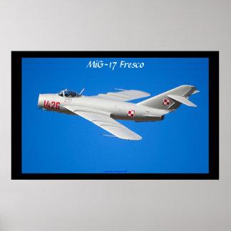 Polish Air Force MiG-17 Fresco Poster