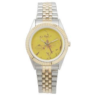Polish Amber Dragonfly Watch