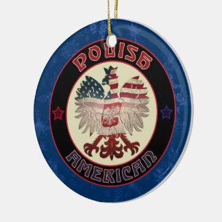 Polish America Eagle Christmas Ornament