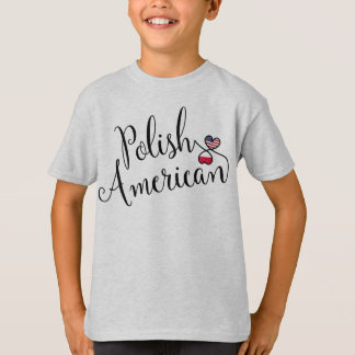 Polish American Entwined Hearts Tee