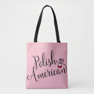 Polish American Entwined Hearts Tote Bag