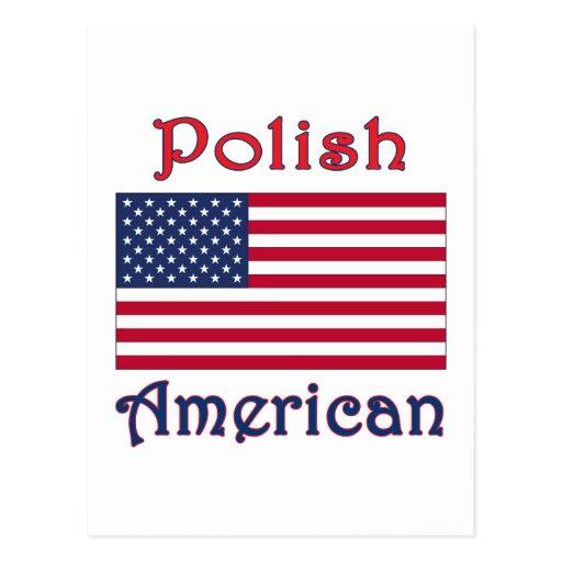 Polish American Flag Post Cards