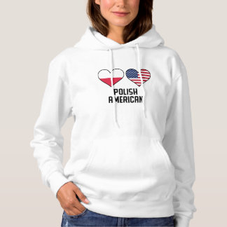 Polish American Heart Flags Hoodie