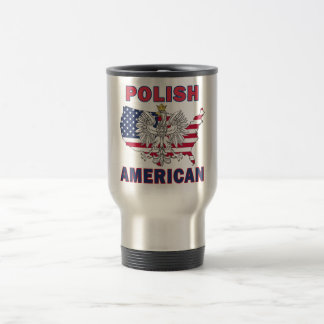 Polish American Map Coffee Mugs