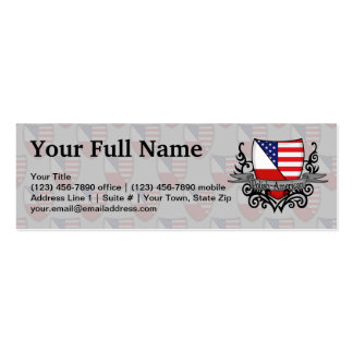 Polish-American Shield Flag Pack Of Skinny Business Cards