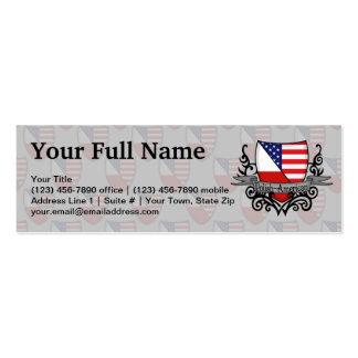 Polish-American Shield Flag Business Card Template