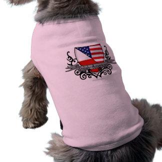 Polish-American Shield Flag Sleeveless Dog Shirt
