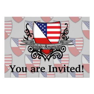 Polish-American Shield Flag Invite