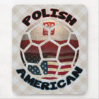 Polish American Soccer Fan Mousemat