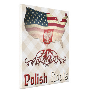 Polish American Stretched Canvas Print