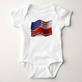 Polish-American Waving Flag Baby Bodysuit