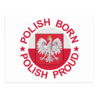 Polish Born Polish Proud Postcard