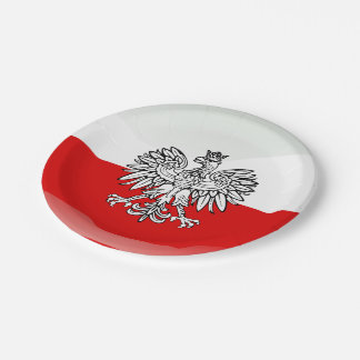 Polish Coat of arms Paper Plate