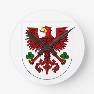 Polish Coat Of Arms Round Clock