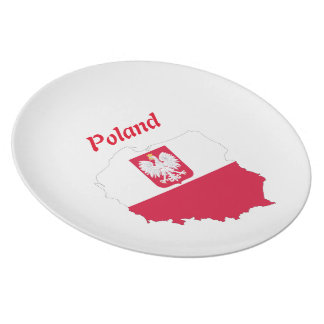 Polish country flag plate