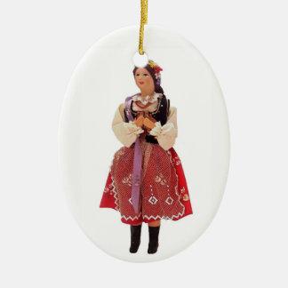 Polish Doll Ceramic Ornament