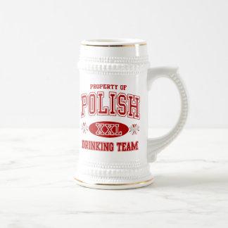 Polish Drinking Team Beer Stein