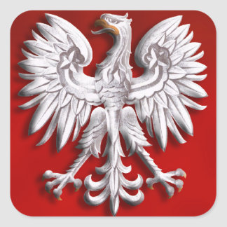 Polish Eagle Levitate Square Sticker