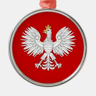 Polish Eagle Metal Ornament