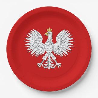 Polish Eagle Paper Plate