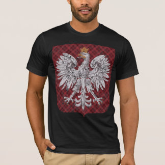 Polish Eagle Plaid Crest T-Shirt