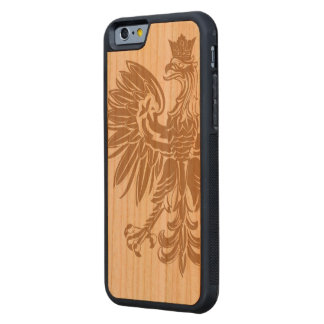 Polish Eagle Poland Flag Carved Cherry iPhone 6 Bumper Case