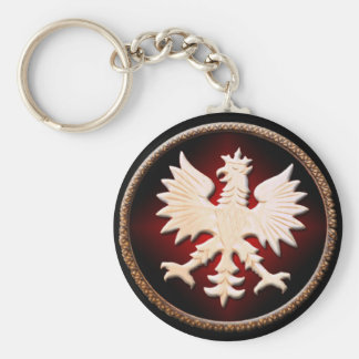 Polish Eagle Vintage Basic Round Button Key Ring