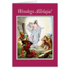 Polish Easter, Jesus Resurrection,  Religious Card