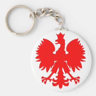 Polish Falcon (Eagle) Basic Round Button Key Ring