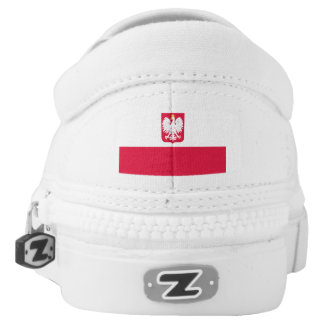 Polish Flag and Polish Eagle Shoes Printed Shoes