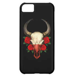 Polish Flag Bull Skull with Red Roses iPhone 5C Covers