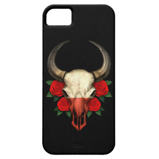 Polish Flag Bull Skull with Red Roses iPhone 5 Cases