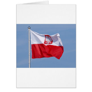 POLISH FLAG CARD