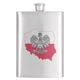 Polish Flag Flask