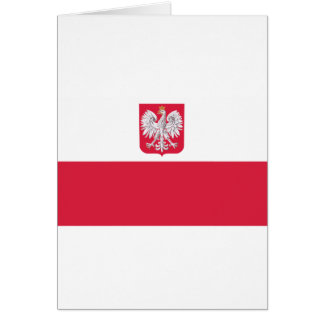 Polish Flag Greeting Card
