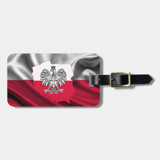 Polish Flag Luggage Strap Luggage Tag