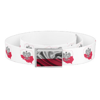 Polish Flag Map Belt