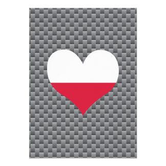 "Polish Flag on a cloudy background 5"" X 7"" Invitation Card"