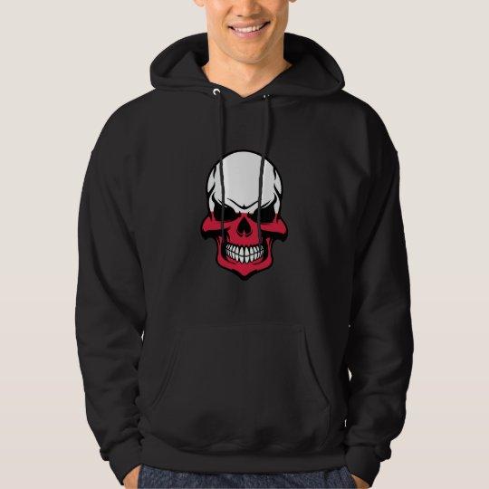 Polish Flag Skull Hoodie