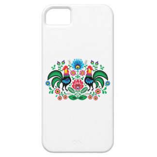 Polish floral embroidery, traditional folk pattern iPhone 5 case