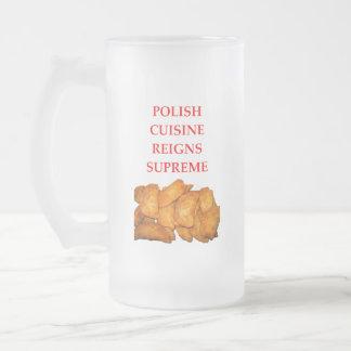 polish food frosted glass beer mug
