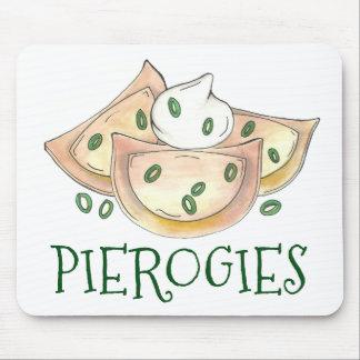 Polish Food Potato Dumplings Pierogies Sour Cream Mouse Pad