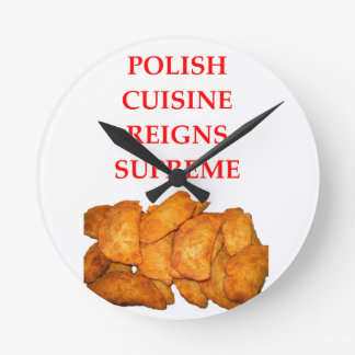 polish food round clock