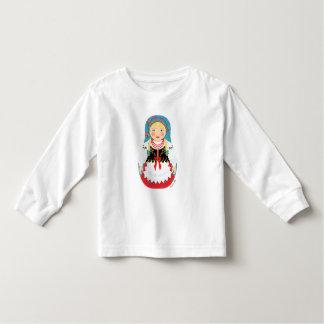 Polish Girl Matryoshka Toddler Long Sleeve Shirt